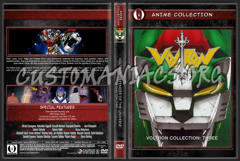 Anime Collection Voltron Defender Of The Universe Collection Three dvd cover