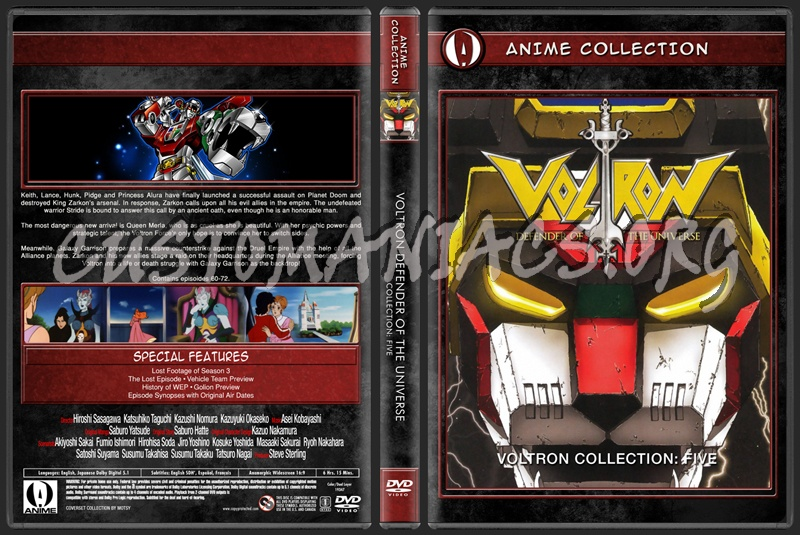 Anime Collection Voltron Defender Of The Universe Collection Five dvd cover