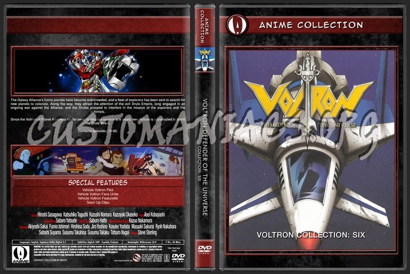 Anime Collection Voltron Defender Of The Universe Collection Six dvd cover