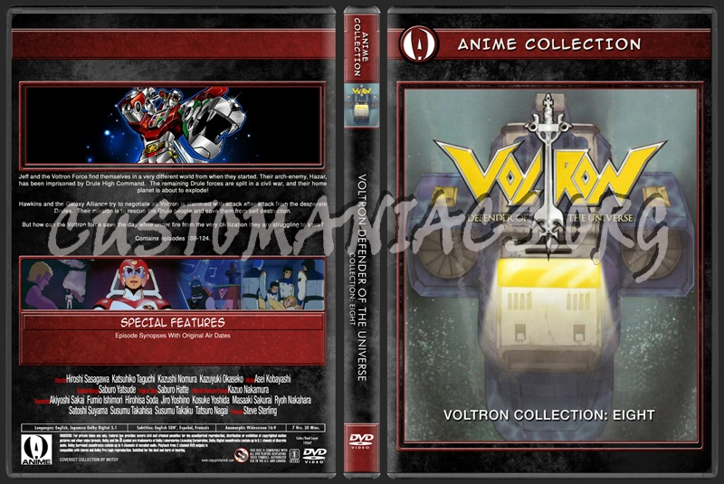 Anime Collection Voltron Defender Of The Universe Collection Eight dvd cover
