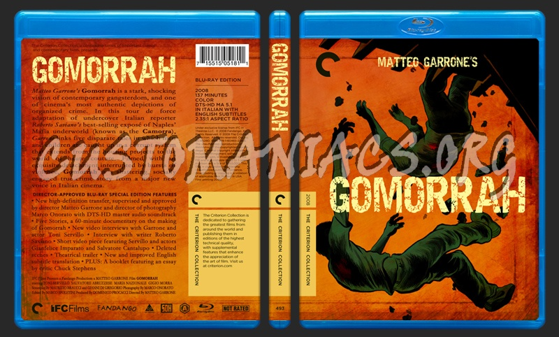 493 - Gomorrah blu-ray cover - DVD Covers & Labels by Customaniacs