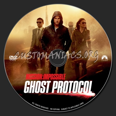 Mission Impossible : Ghost Protocol dvd label