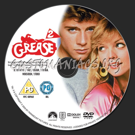Grease 2 dvd label
