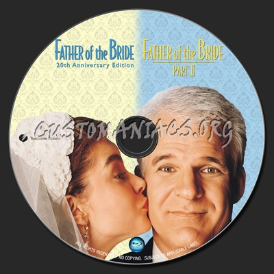 Father Of The Bride / Father Of The Bride II blu-ray label