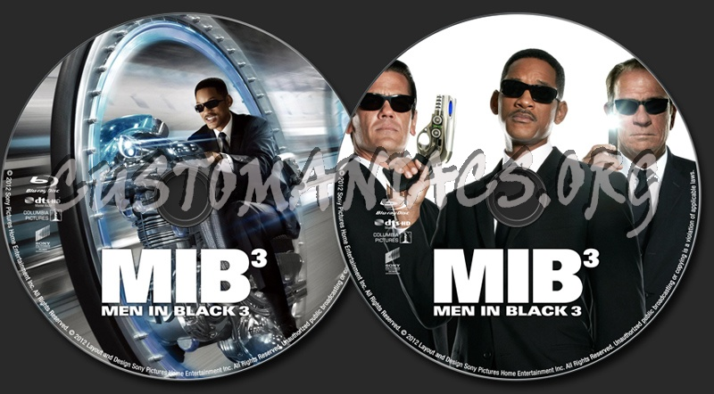 Men In Black III blu-ray label