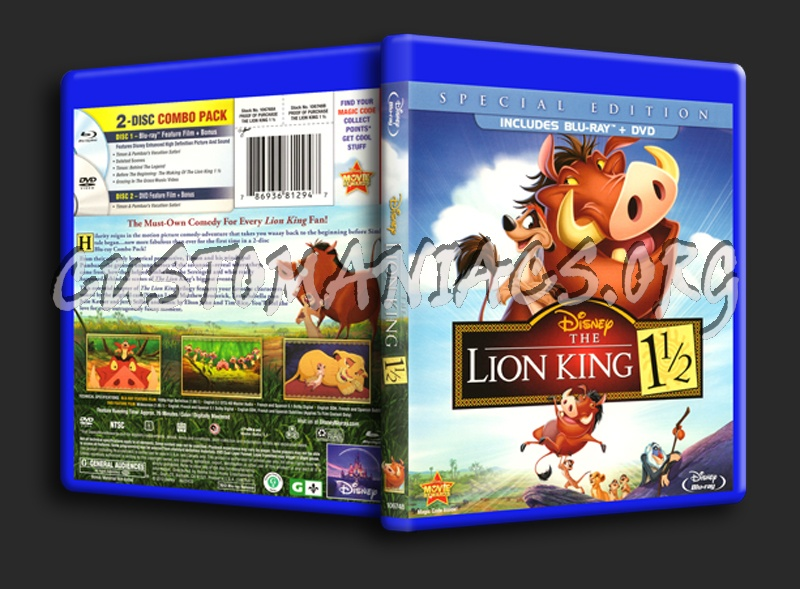 The Lion King 1½ blu-ray cover
