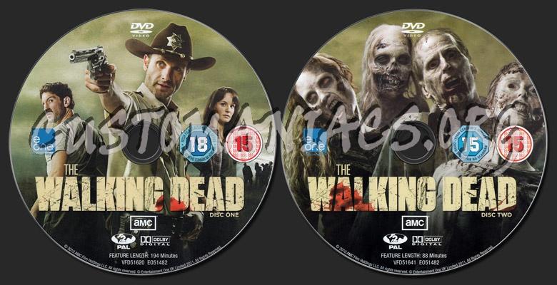 The Walking Dead - Season 1 dvd label