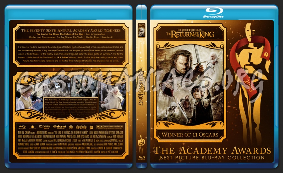 The Lord of the Rings: The Return of the King - 2003 - Academy Awards Collection blu-ray cover