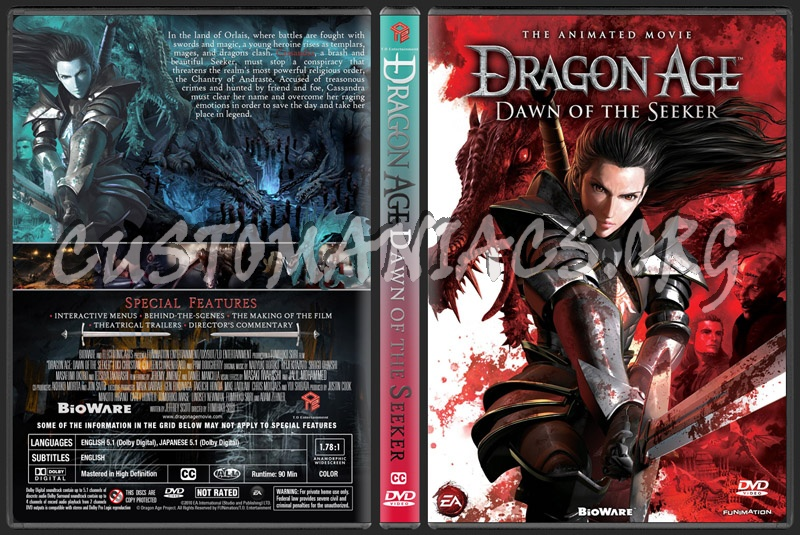 Dragon Age: Dawn Of The Seeker dvd cover
