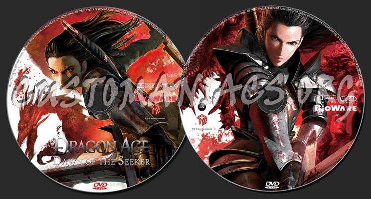 Dragon Age: Dawn Of The Seeker dvd label
