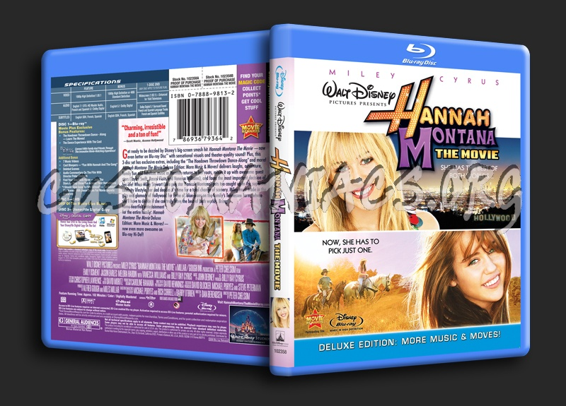 Hannah Montana The Movie blu-ray cover