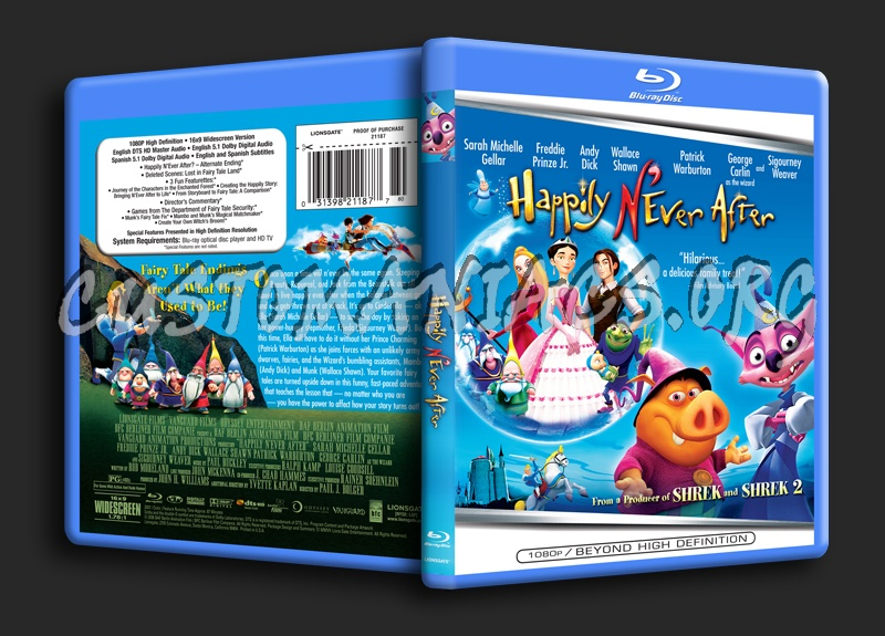 Happily N'ever After blu-ray cover