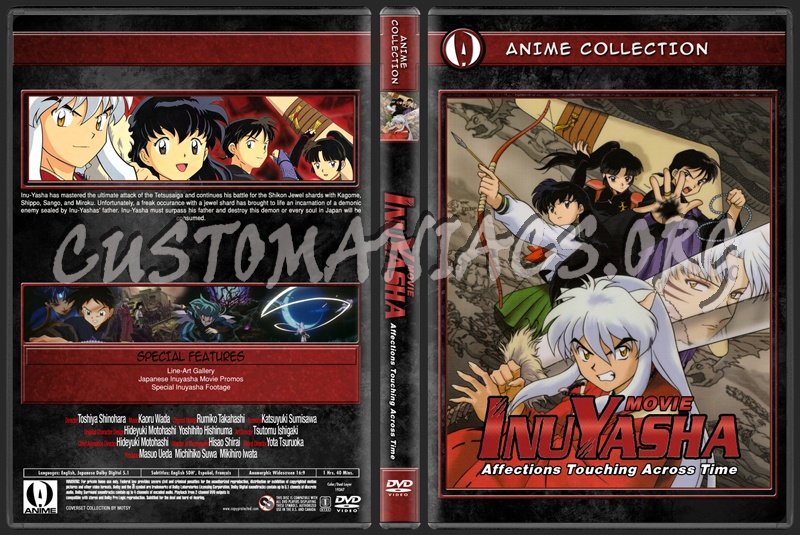 Anime Collection Inuyasha Movie 1 Affections Touching Across Time dvd cover