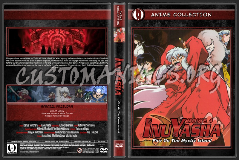 Anime Collection Inuyasha Movie 4 Fire On The Mystic Island dvd cover