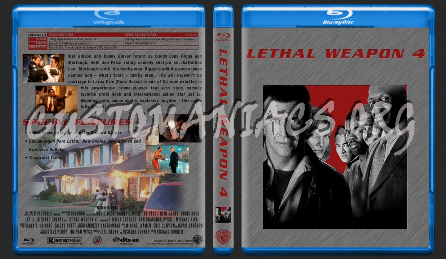 Lethal Weapon 4 blu-ray cover