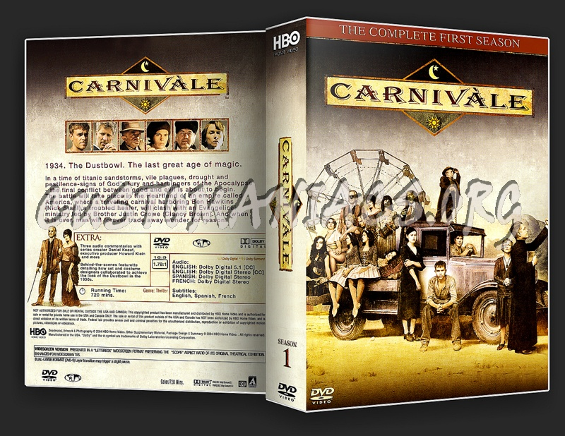 Carnivale The Complete First Season dvd cover
