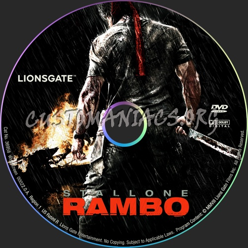 Rambo dvd label