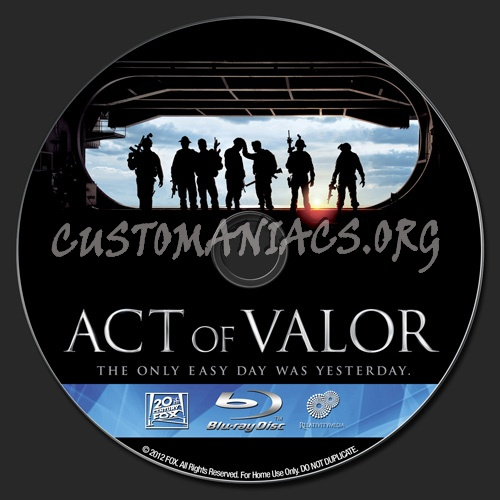 Act of Valor blu-ray label