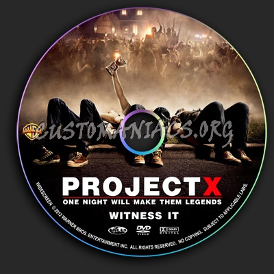 Project X dvd label