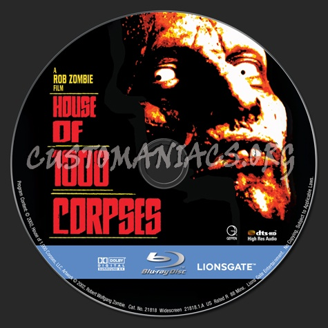 House of 1000 Corpses blu-ray label
