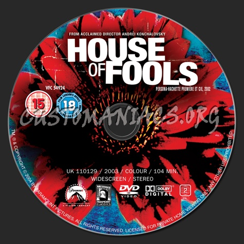 House of Fools dvd label
