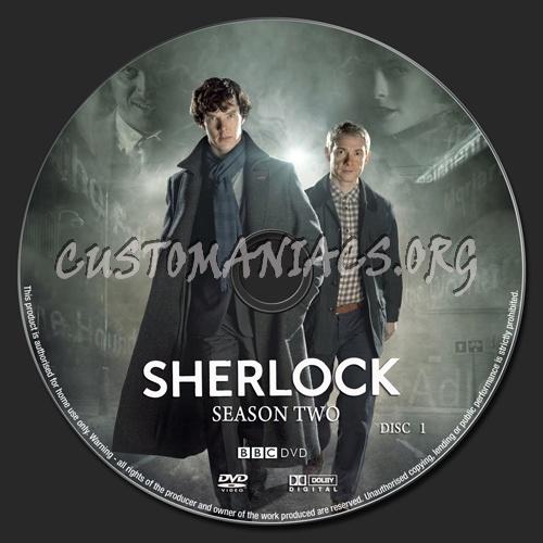 Sherlock Season 2 dvd label - DVD Covers & Labels by