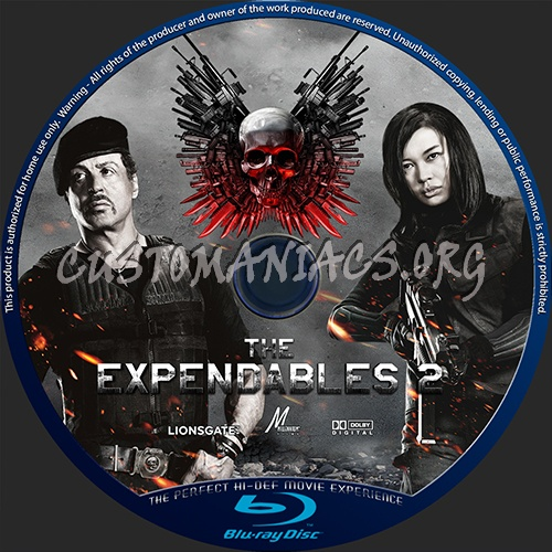 The Expendables 2 blu-ray label