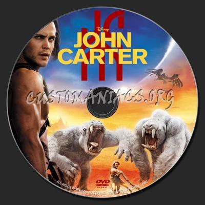 John Carter dvd label