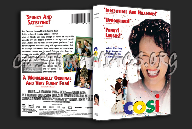 Cosi dvd cover - DVD Covers & Labels by Customaniacs, id: 170508 ...