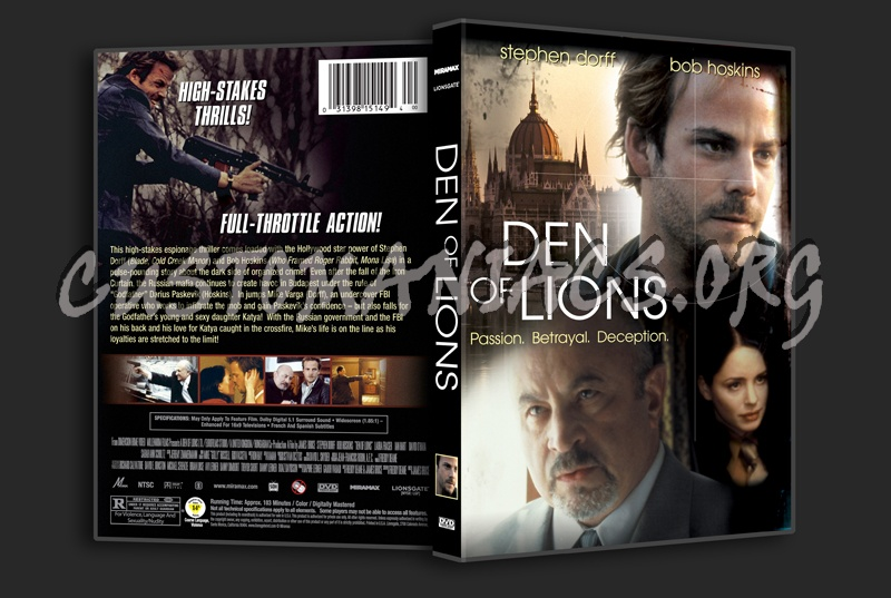 Den of Lions dvd cover