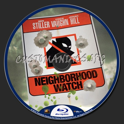 Neighborhood Watch aka The Watch blu-ray label