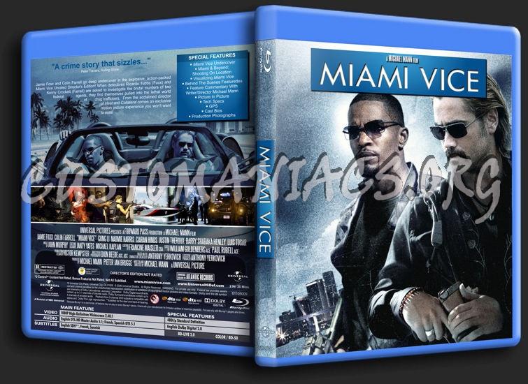 Miami Vice blu-ray cover