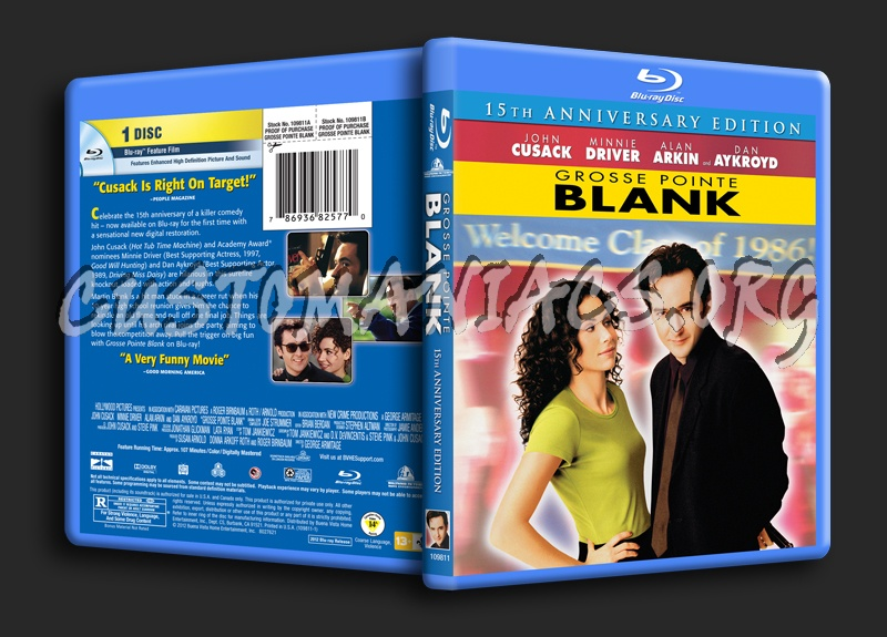 Grosse Pointe Blank blu-ray cover - DVD Covers & Labels by