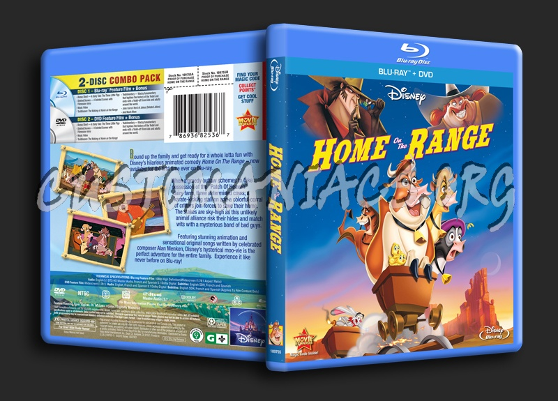 home on the range blu ray cover dvd covers labels by customaniacs id 170635 free download. Black Bedroom Furniture Sets. Home Design Ideas