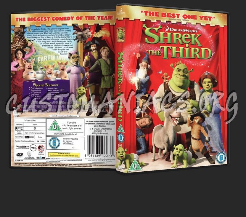 Shrek The Third: Shrek 3 dvd cover