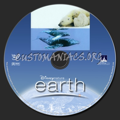 Disneynature Earth dvd label