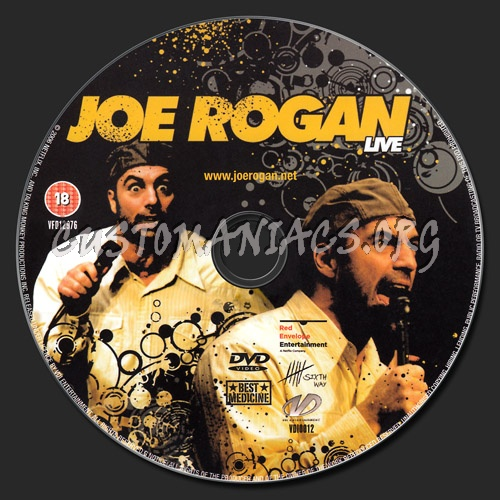 Joe Rogan Live dvd label