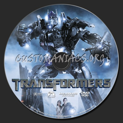 Transformers dvd label