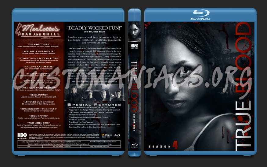 True Blood Season 4 blu-ray cover
