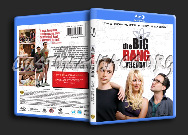 The Big Bang Theory Season 1 blu-ray cover