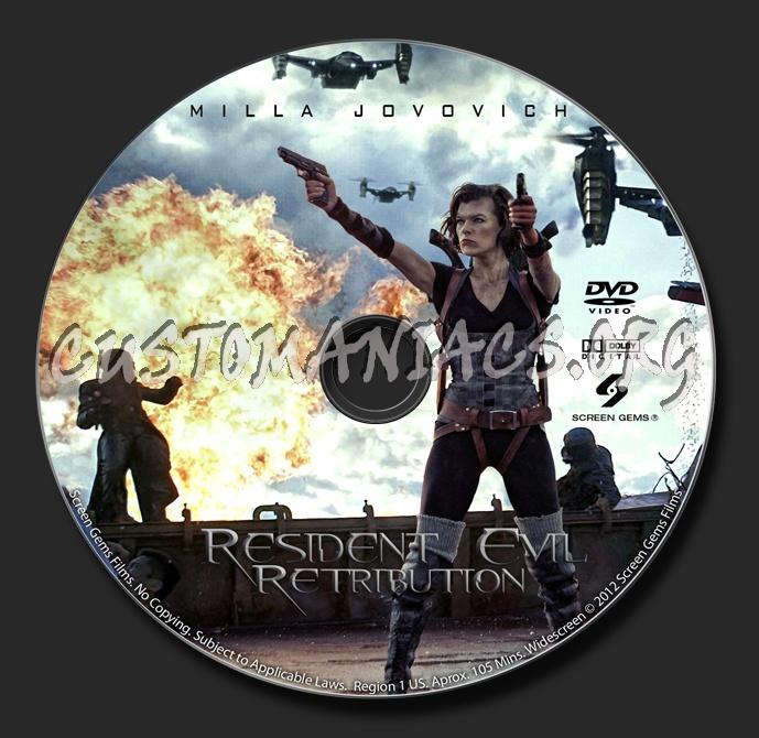 Resident Evil: Retribution dvd label
