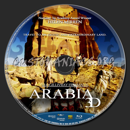 Arabia 3D blu-ray label