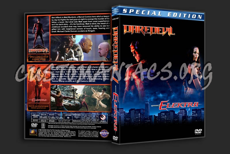 Daredevil / Elektra Double Feature dvd cover