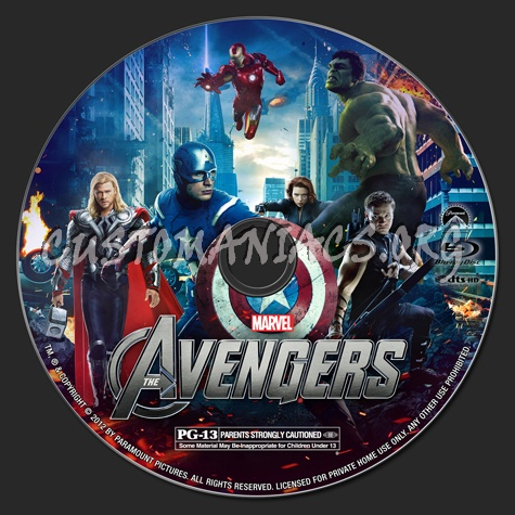 The Avengers blu-ray label