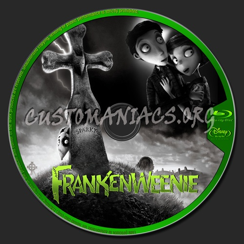 Frankenweenie blu-ray label