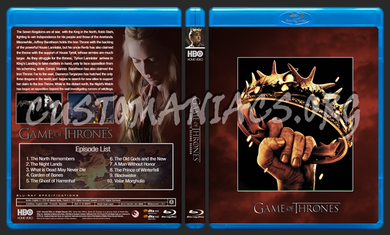 Game of Thrones Season 2 blu-ray cover