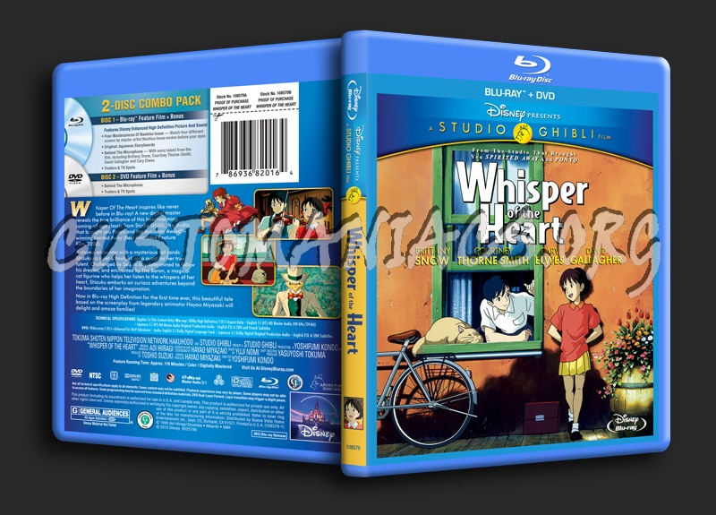 Whisper of the Heart blu-ray cover