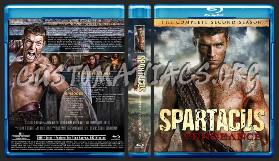 Spartacus Vengeance Season 2 blu-ray cover