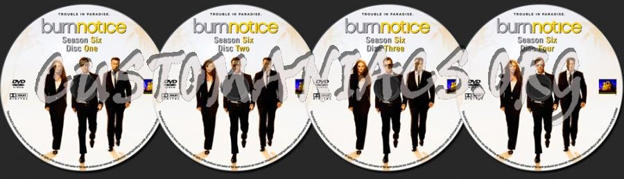 Burn Notice Season 6 dvd label