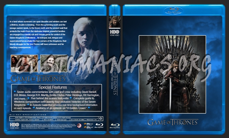 Game of Thrones Season 1 blu-ray cover